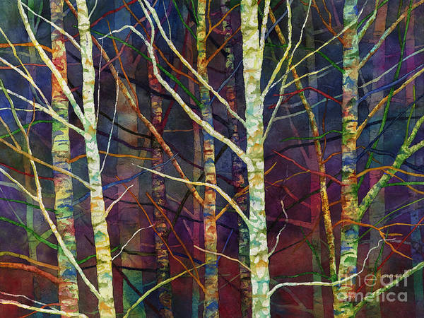 Birches Painting - Forest Rhythm by Hailey E Herrera