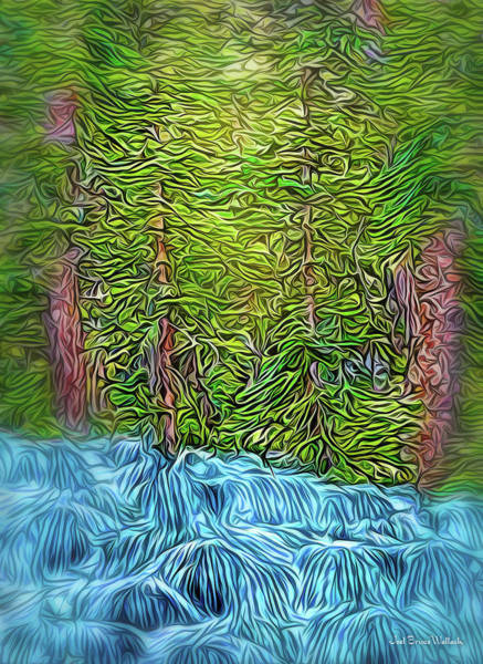 Digital Art - Forest River Streaming by Joel Bruce Wallach