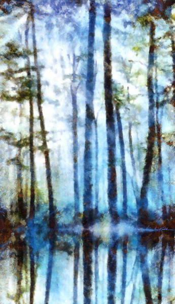 Sentry Wall Art - Painting - Forest Sentries In The Mist by Hanne Lore Koehler