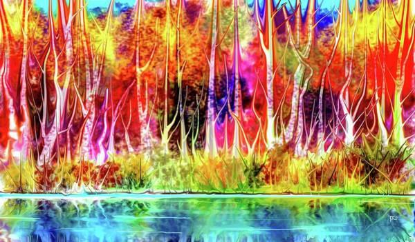 Digital Art - Forest Stream by Darren Cannell