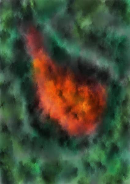 Forest Under Fire Art Print