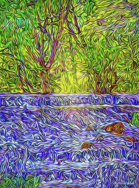 Digital Art - Forest Waterfalls by Joel Bruce Wallach
