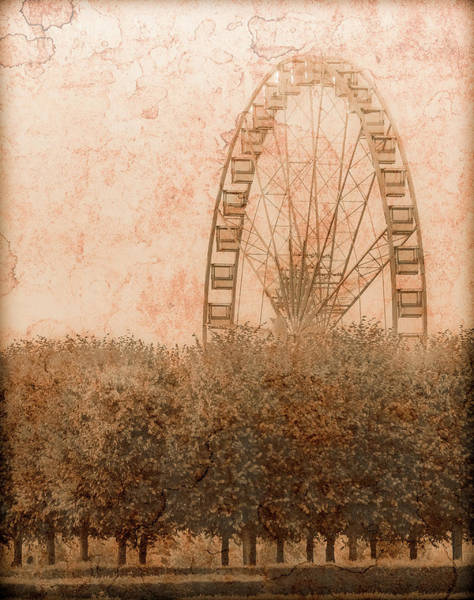 Photograph - Paris, France - Forest Wheel by Mark Forte