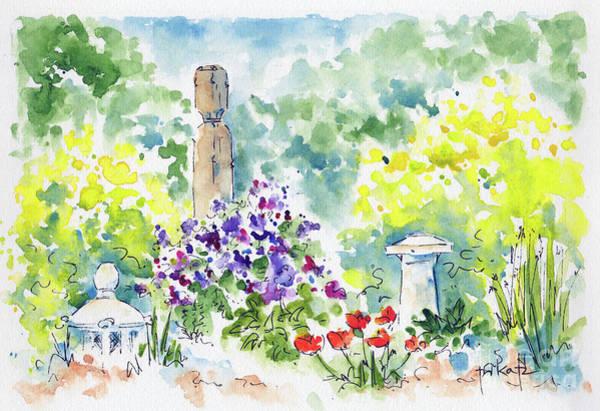 Painting - Forestry Farm Meditation Garden by Pat Katz
