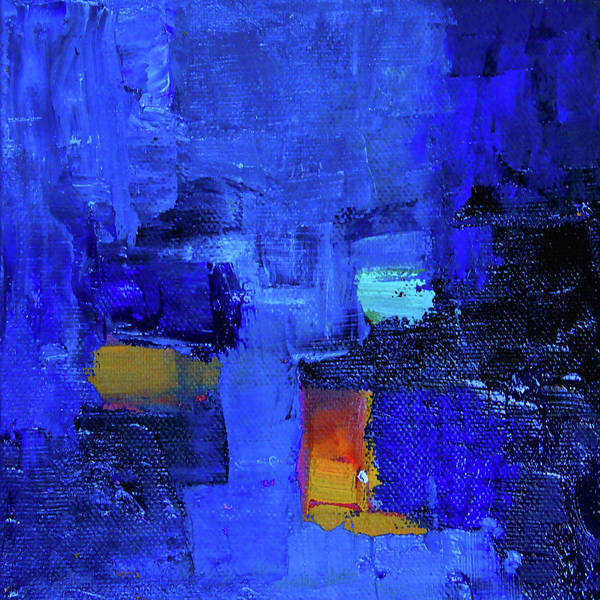 Ultramarine Blue Painting - Forever Blue Abstract by Nancy Merkle