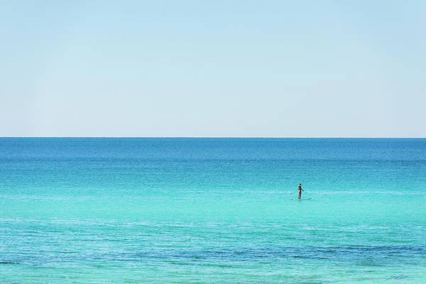 Photograph - Forever Blue Gulf Paddle by Kurt Lischka