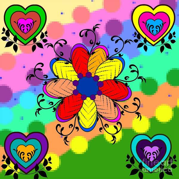 Digital Art - Forever Floral by Diamante Lavendar