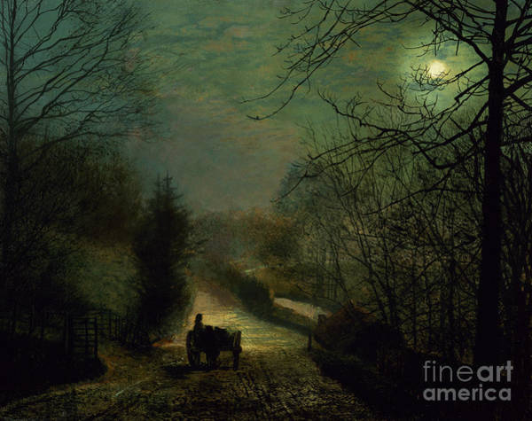 Forge Wall Art - Painting - Forge Valley by John Atkinson Grimshaw