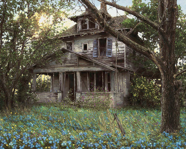 Old South Painting - Forget-me-not by Doug Kreuger
