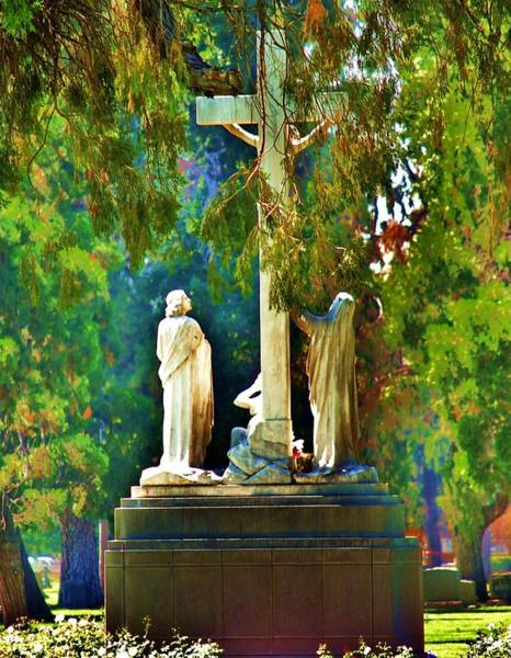Crucifixion Of Jesus Photograph - Forgiven by Helen Carson