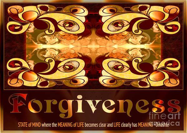 Digital Art - Forgiveness Spiritual Artwork By Omashte by Omaste Witkowski