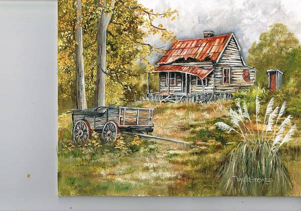 Painting - Forgotten By Time by Val Stokes