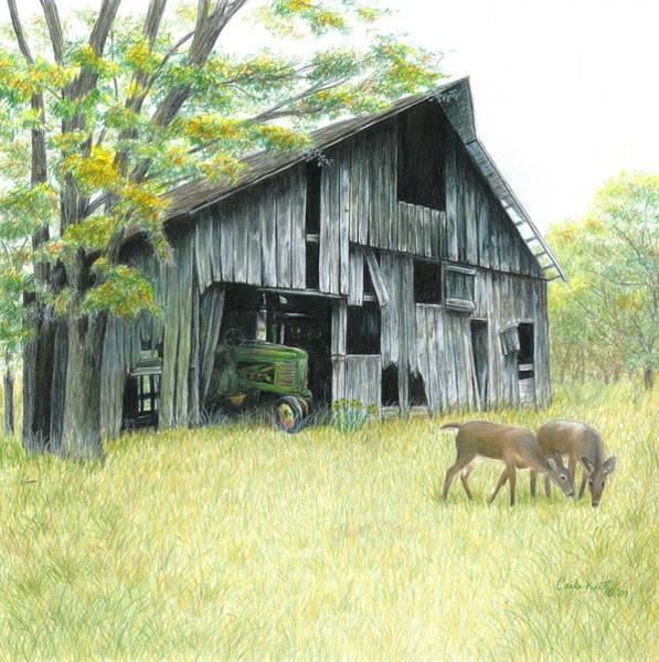 Deere Wall Art - Painting - Forgotten by Carla Kurt