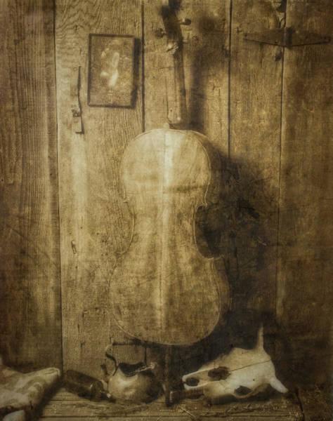 Wall Art - Photograph - Forgotten Cello by Garry Gay