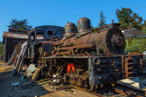 Wall Art - Photograph - Forgotten Engine Number Six by Garry Gay