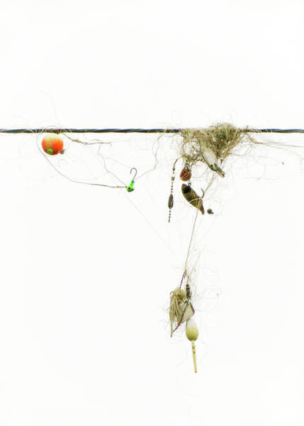 Photograph - Tangled Fishing Lures #1 by Patti Deters