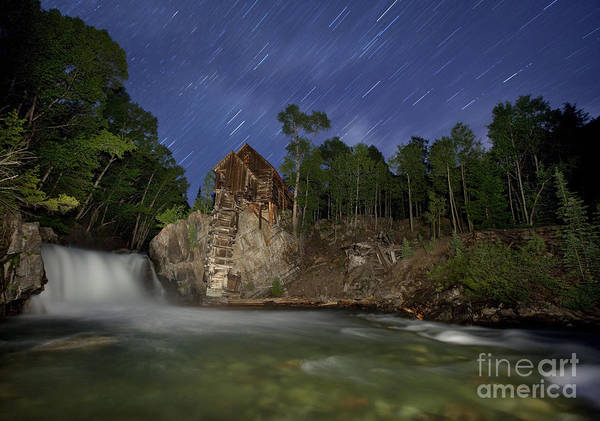 Star Trails Photograph - Forgotten Mill by Keith Kapple