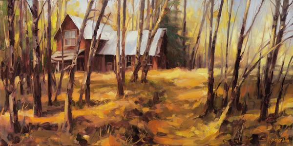 Meditative Wall Art - Painting - Forgotten Path by Steve Henderson