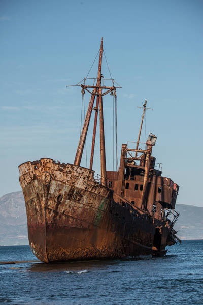 Photograph - Forgotten Ship Wreck by Jaroslaw Blaminsky