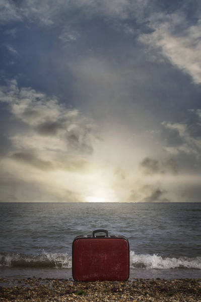 Founded Photograph - Forgotten Suitcase by Joana Kruse