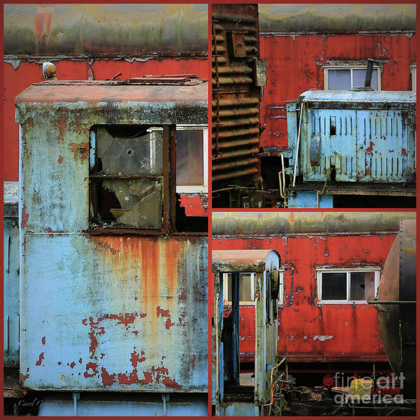 Photograph - Forgotten Train Station Collage by Carol Groenen