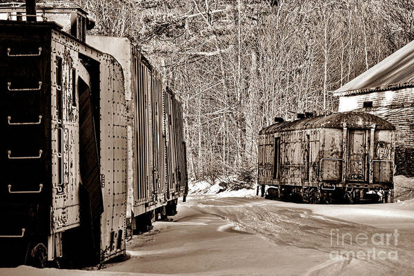 Wall Art - Photograph - Forgotten Trains In Winter by Olivier Le Queinec