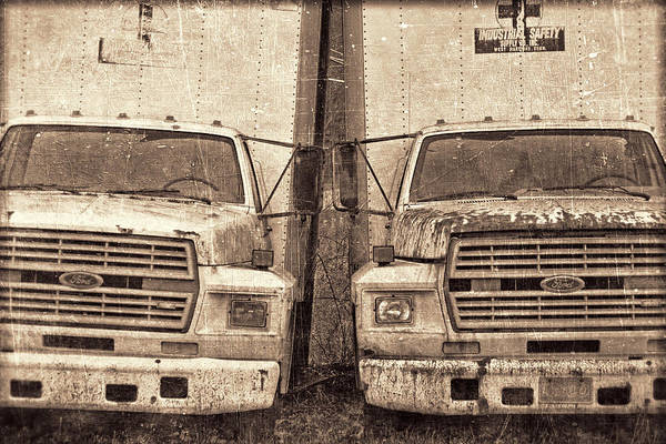 Semi Truck Photograph - Forgotten Trucks by Jeff  Gettis