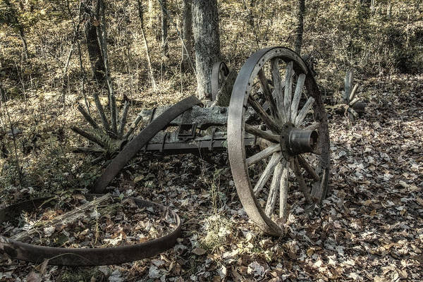 Crumbling Photograph - Forgotten Wagon by Tom Mc Nemar