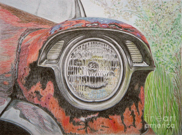Rust Drawing - Forgotten Wreck by Yvonne Johnstone