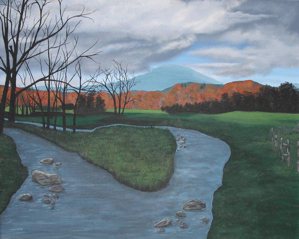 Wall Art - Painting - Fork In The River by Candace Shockley