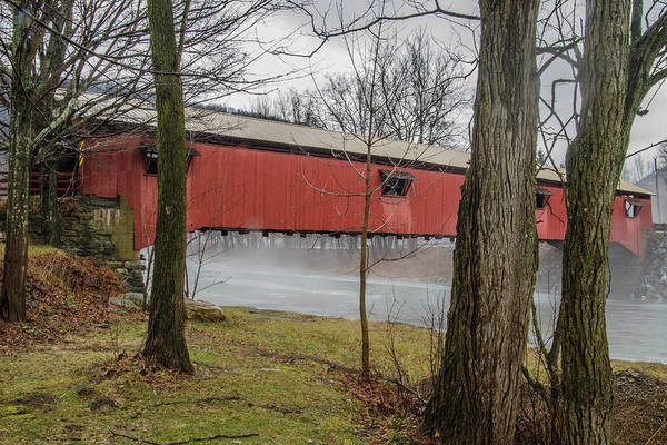 Photograph - Forksville Covered Bridge by Jim Cook