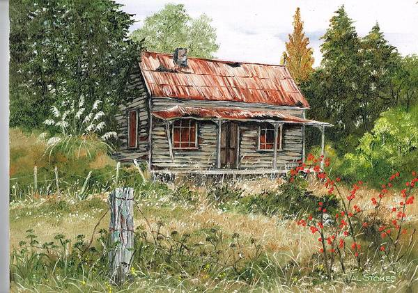 Painting - Forlorn  And Forgotten by Val Stokes