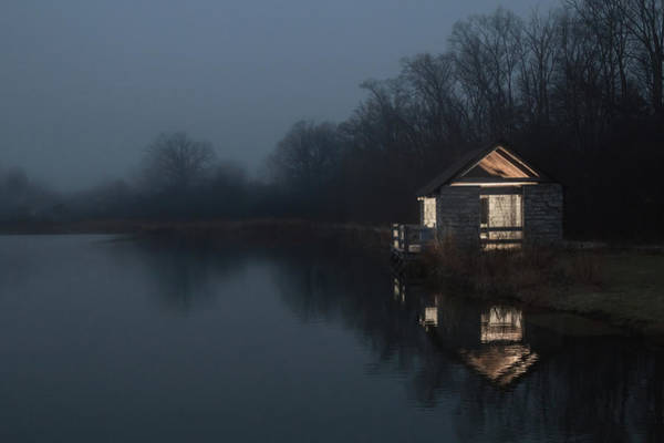 Cabin In The Woods Wall Art - Photograph - Forlorn But Not Forgotten by Joshua Ball