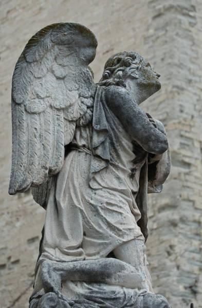 Photograph - Forlorn Stone Angel by Jani Freimann