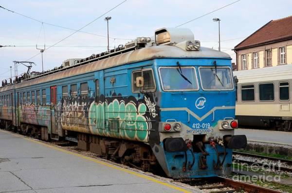 Photograph - Former Yugoslav Railways Electric Locomotive With Graffiti Belgrade Station Serbia by Imran Ahmed