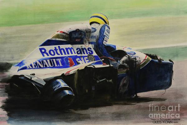 Sports Car Painting - Formula Alone by Oleg Konin