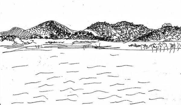 Drawing - Fornes Embalse De Los Bermejales by Chani Demuijlder