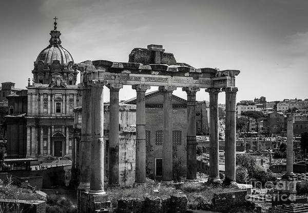 Art Print featuring the photograph Foro Romano, Rome Italy by Perry Rodriguez