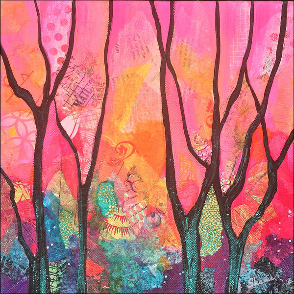 Trails Wall Art - Painting - Forrest Energy II by Shadia Derbyshire