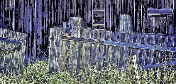 Digital Art - Forsaken Barnyard by Richard Farrington