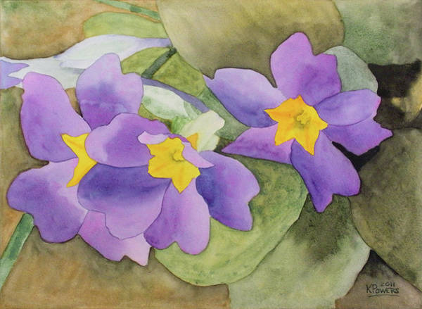 Painting - Forsyth Flowers by Ken Powers