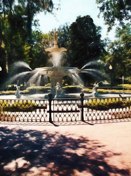 Painting - Forsyth Park Fountain - Savannah - Ga by Barry Jones