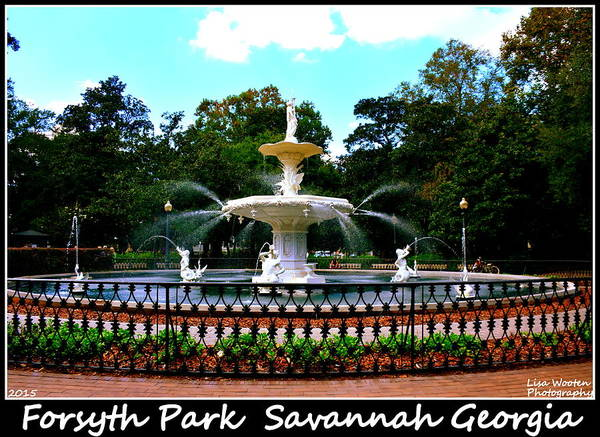 Photograph - Forsyth Park Savannah Georgia Horizontal by Lisa Wooten