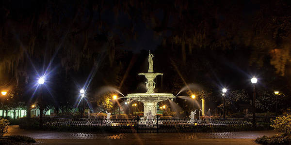 Wall Art - Photograph - Forsythe Park At Twilight by Andrew Soundarajan