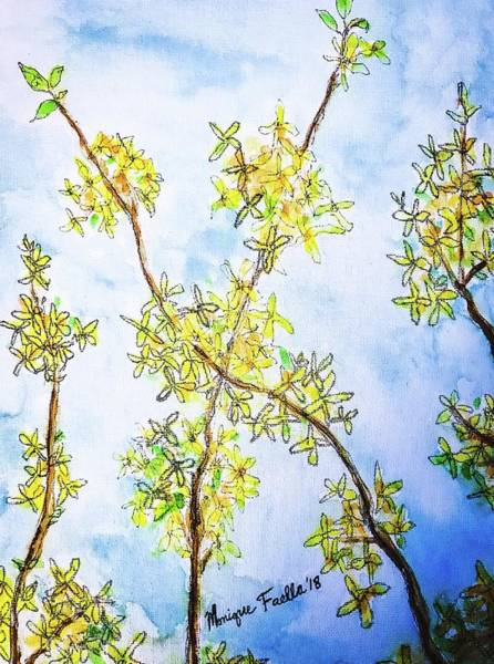 Painting - Forsythia by Monique Faella