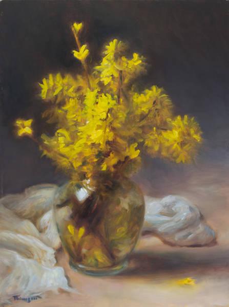 Forsythia Painting - Forsythia by Thimgan Hayden