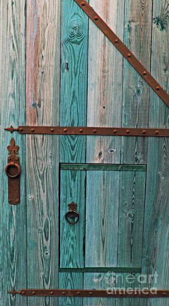 Photograph - Fort Caroline Door In Blue by Jennifer Robin
