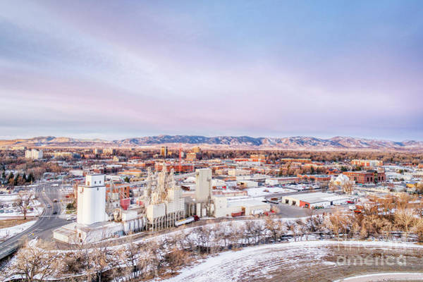 Photograph - Fort Collins Aeiral Cityscape by Marek Uliasz