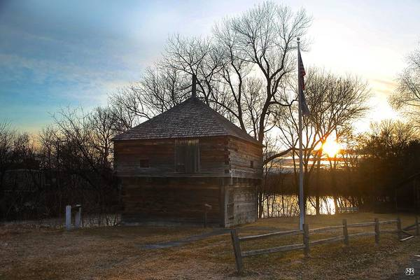 Photograph - Fort Halifax At Sunset by John Meader