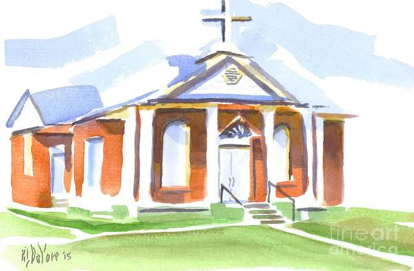 Wall Art - Painting - Fort Hill Methodist Church by Kip DeVore